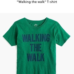 NWT jcrew walking the walk tee